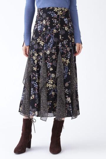 【先行予約 11月中旬-下旬入荷予定】ミックススフラワープリントスカート
