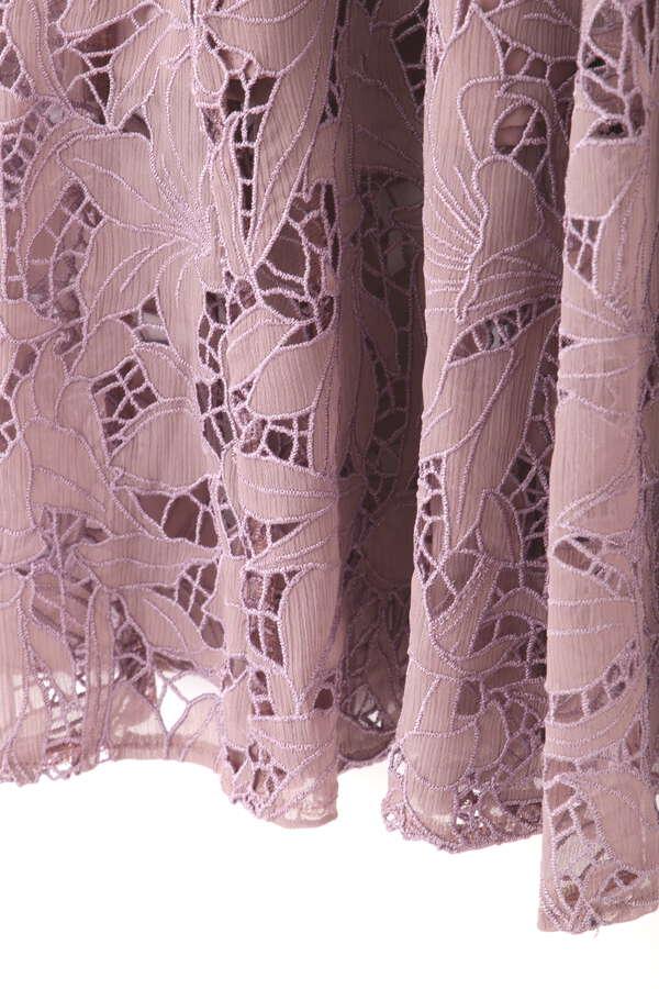 《EXCLUSIVE LINE》エンブロイダリーレーススカート