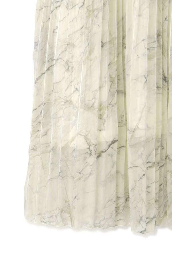 《EXCLUSIVE LINE》ウォータプリントプリーツスカート