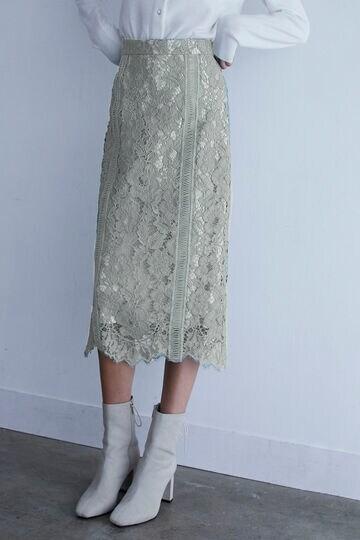 【先行予約 12月中旬-下旬入荷予定】【WEB限定 サイズ:4 展開】ネロレーススカート
