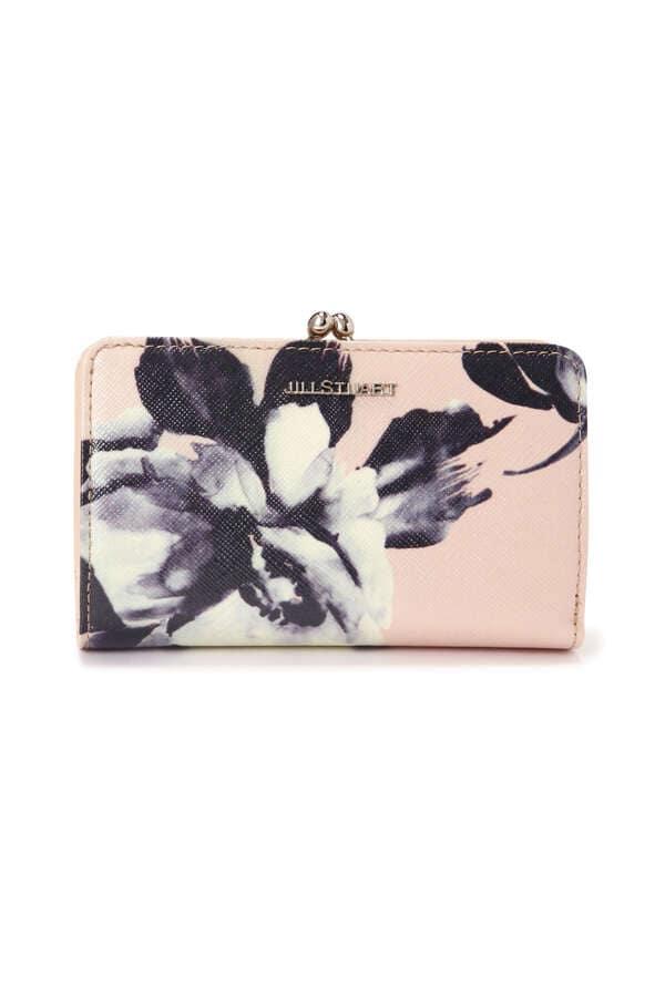 【WEB限定】フラワープリント2つ折り口金財布