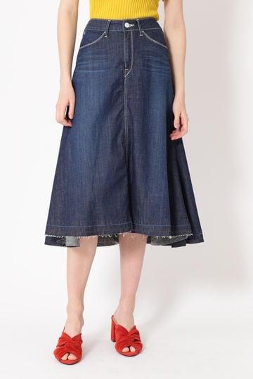 【先行予約 5月上旬お届け予定】Woad blue×JILLSTUART コラボデニムスカート