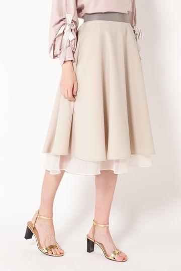 リバーシブルフレアスカート