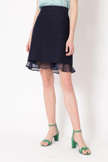 ニキータサマーツィード台形スカート