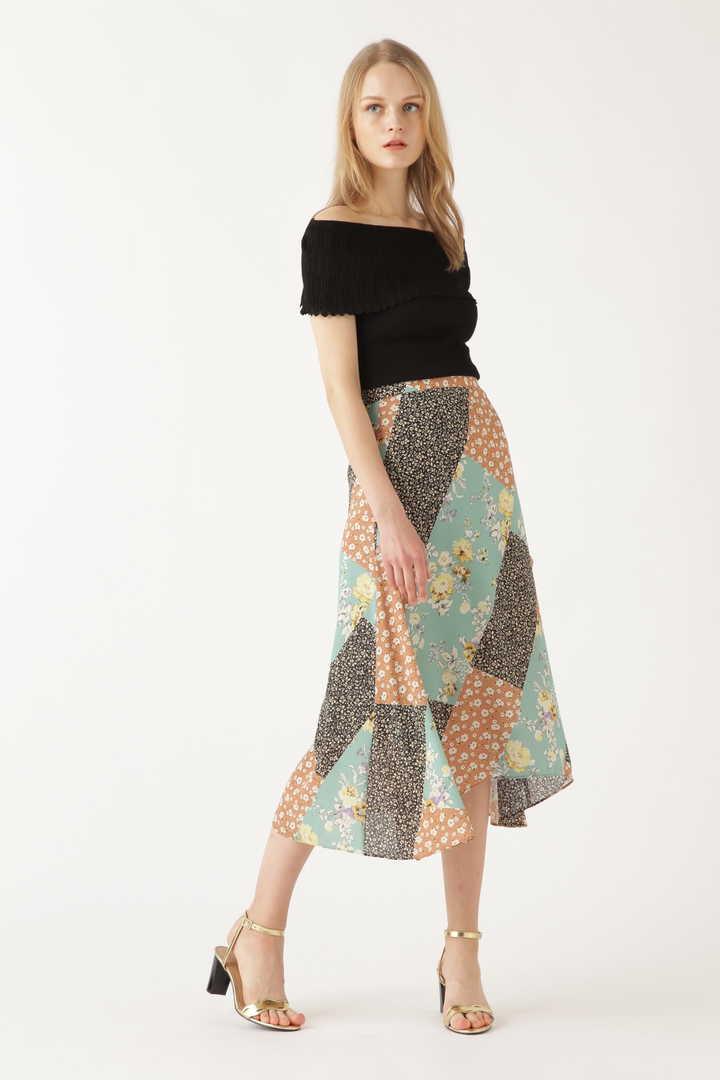 シアーミックスフラワースカート