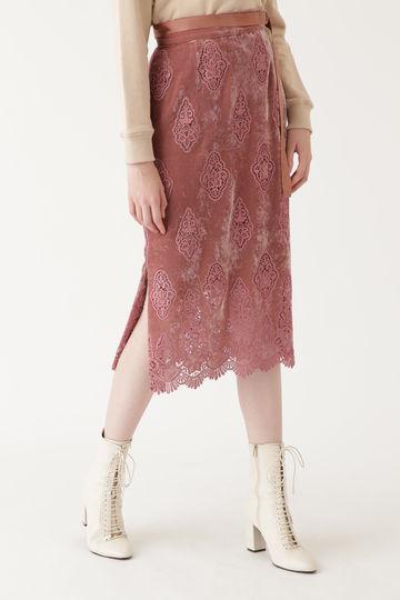 ヴェルベットレースタイトスカート【公式サイト限定サイズあり】