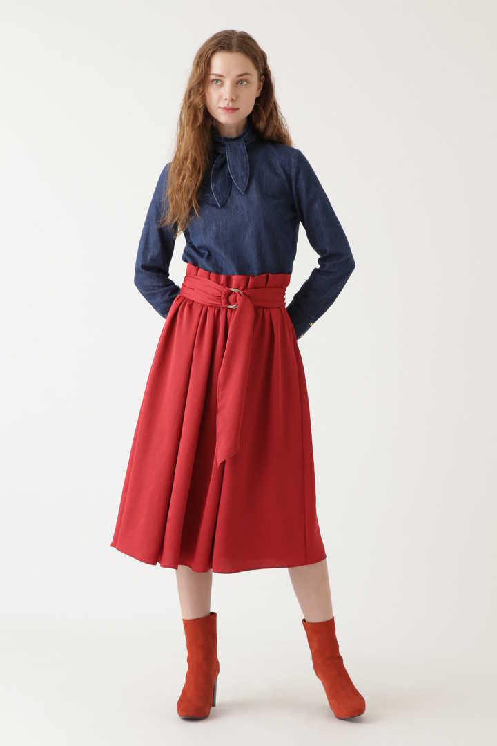 サリーサテンギャザースカート