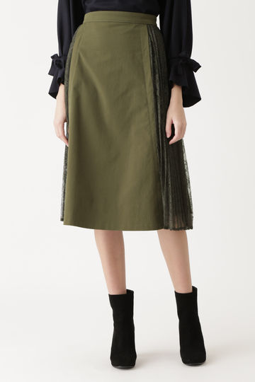 ユリアレース×プリーツスカート