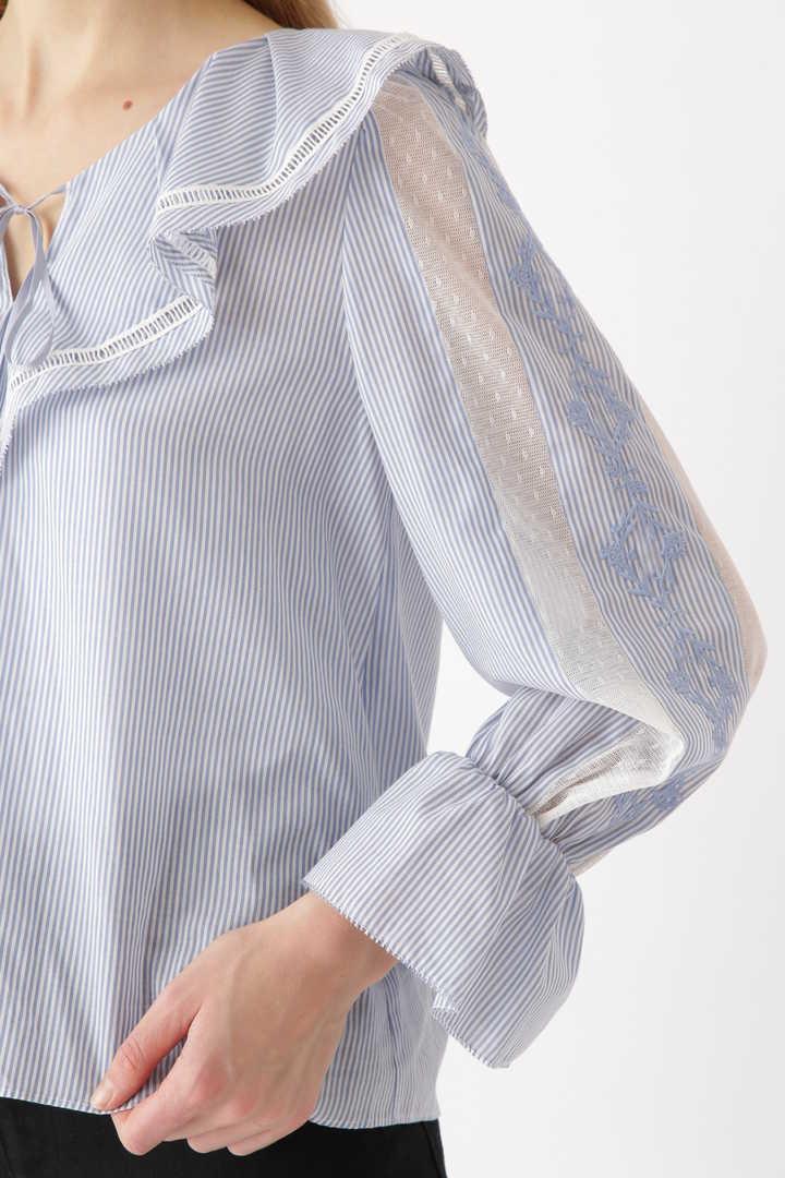 ホリーラッフル刺繍ブラウス