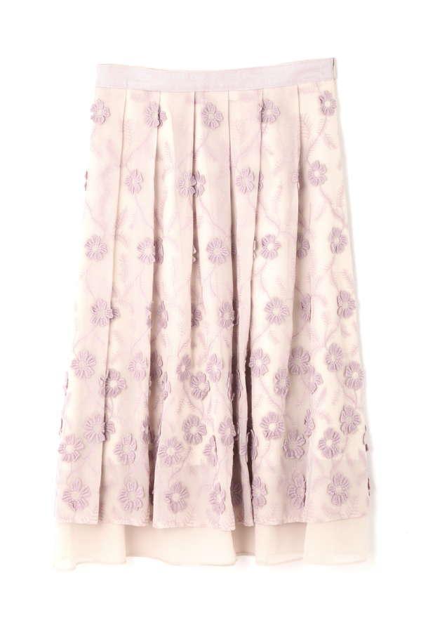 フローラフラワー刺しゅうスカート