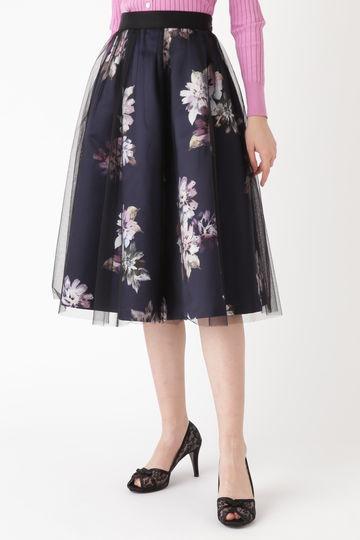 【先行予約 2月中旬-下旬入荷予定】《Endy ROBE》ヴェロニカ花柄プリントスカート