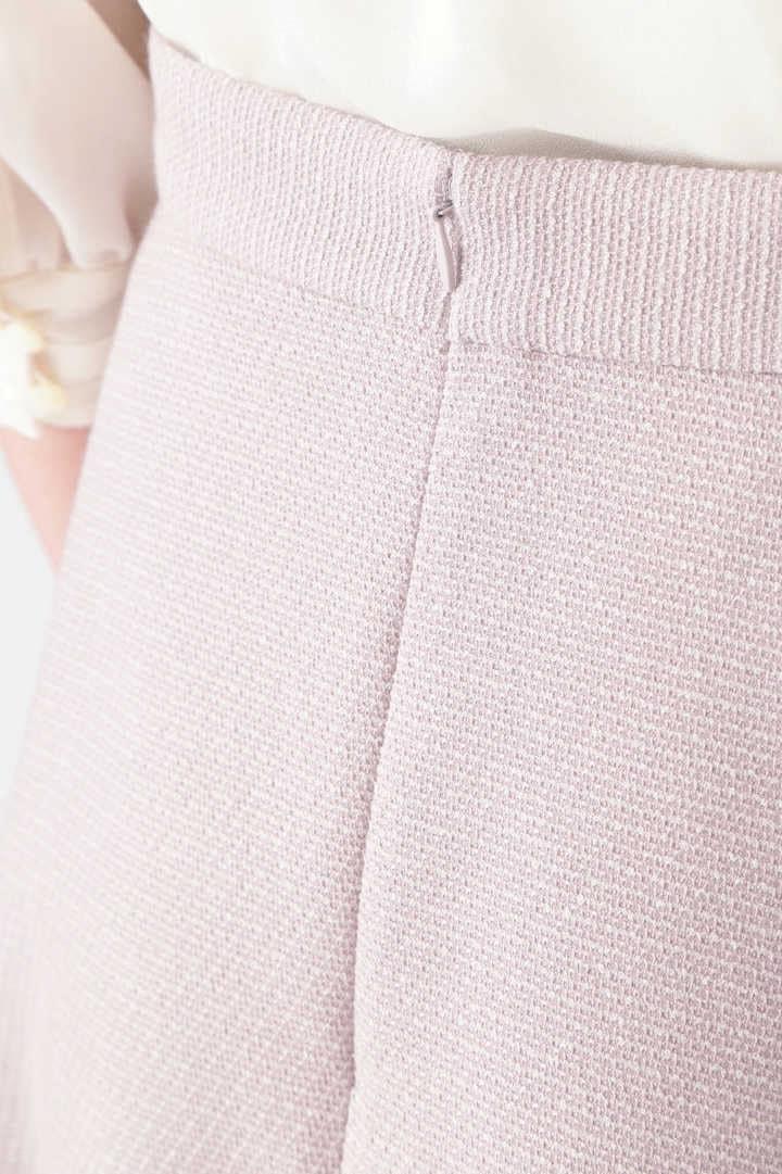 ナタリー釦付きフレアミニスカート