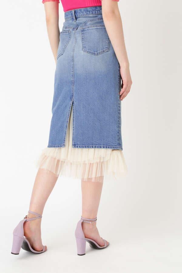 《JILL JEAN》チュールデニムタイトスカート