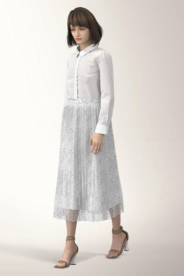 【先行予約 3月中旬-下旬入荷予定】[WEB限定商品]プリーツドッキングドレス