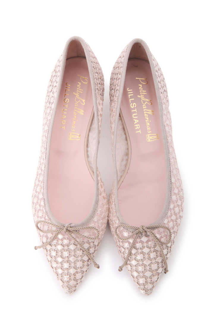《Pretty Ballerinas×JILLSTUART》レースチュールバレエシューズ