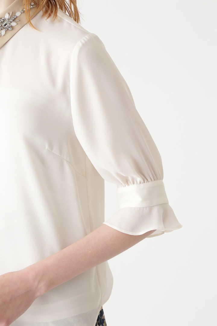 マデリン襟付きシャツブラウス