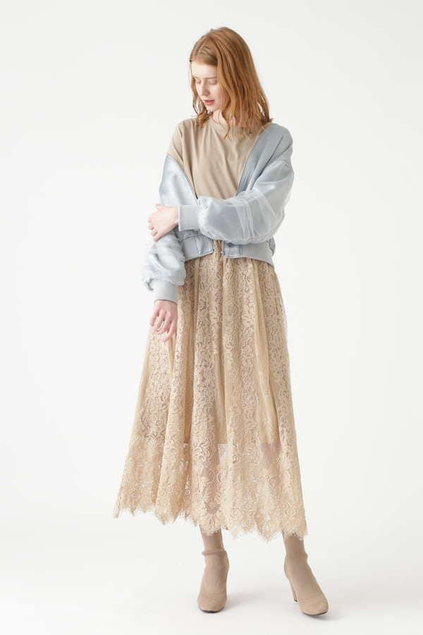 ローラレースロングスカート