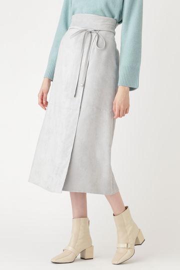 ノアフェイクスエードラップ風スカート