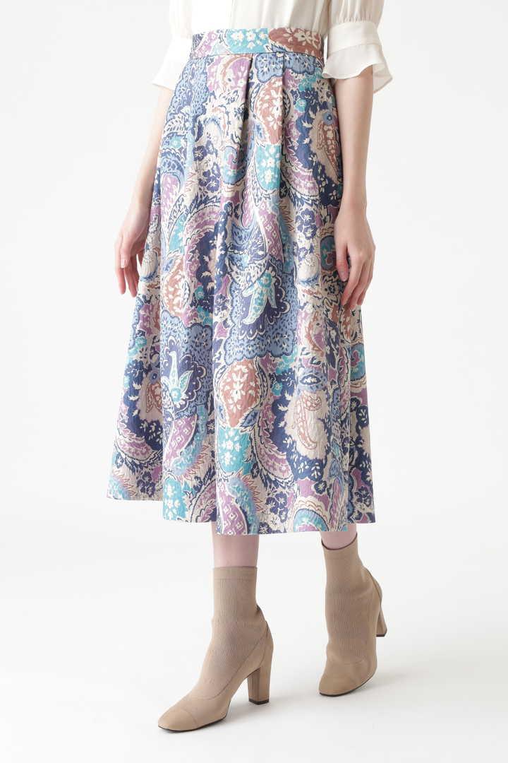 《Endy ROBE》ナタリアペイズリー柄スカート