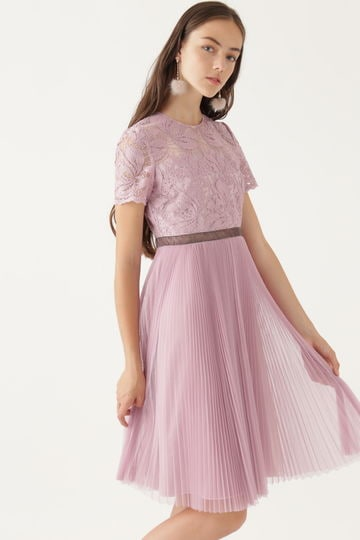 《JILLSTUART White》キャロラインレース×チュールプリーツドレス【公式サイト限定サイズあり】