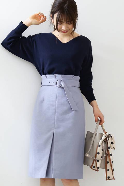 フロントスリットブッチャータイトスカート