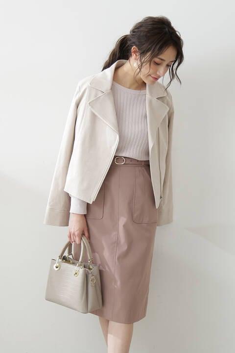 【先行予約4月上旬-中旬入荷予定】ワークポケットタイトスカート:051WEB限定カラー