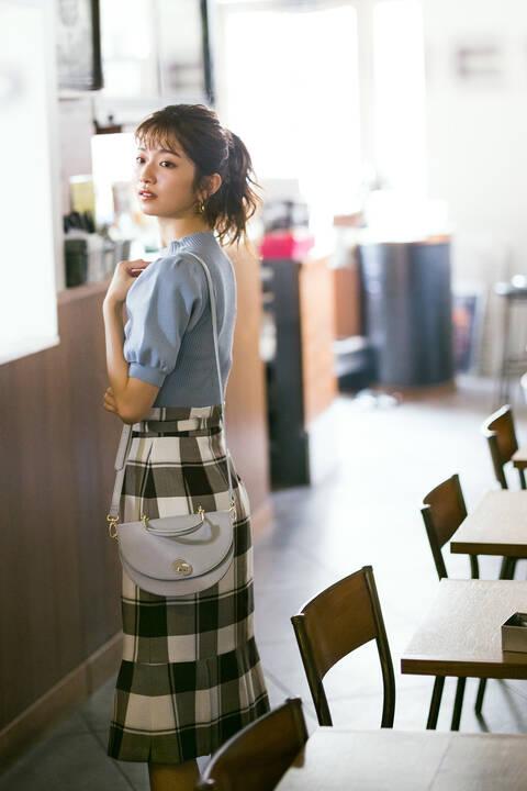 【先行予約5月中旬-5月下旬入荷予定】フェミニンチェックマーメイドスカート