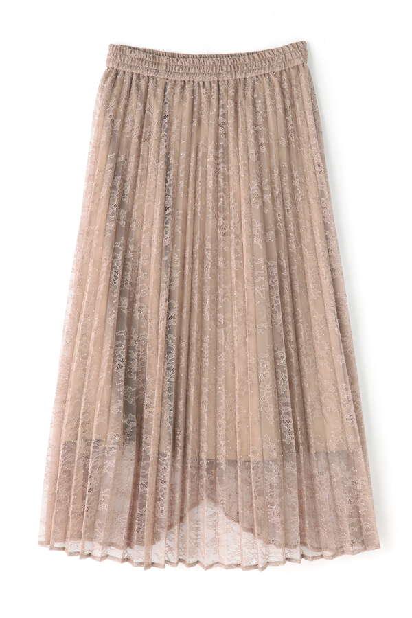レースラッププリーツスカート