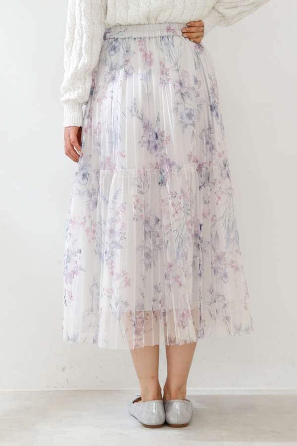 《EDIT COLOGNE》フラワーチュールスカート