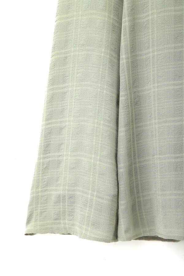 《EDIT COLOGNE》シアーチェックフレアースカート