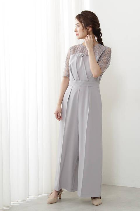 《Lou Lou Fee》スリーブレースパンツドレス