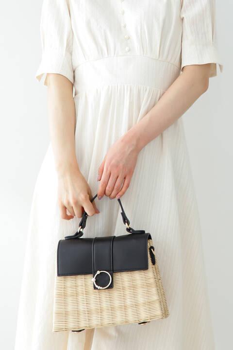 《田中みな実さん着用》ビジューリングラタンバッグ