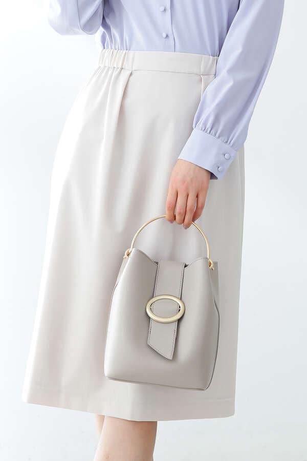 《田中みな実さん着用》楕円モチーフバケツショルダーバッグ