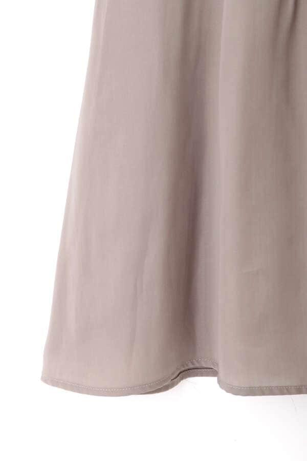 《堀田茜さん着用 美人百花11月号掲載商品》サイドボタンサテンスカート