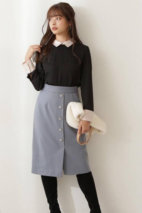 【先行予約11月上旬-11月中旬入荷予定】ビジュータイトスカート