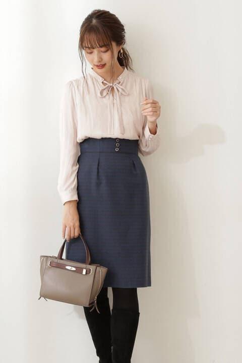 【先行予約11月上旬-11月中旬入荷予定】千鳥ジャガードタイトスカート