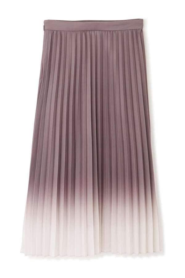 グラデーションプリーツスカート