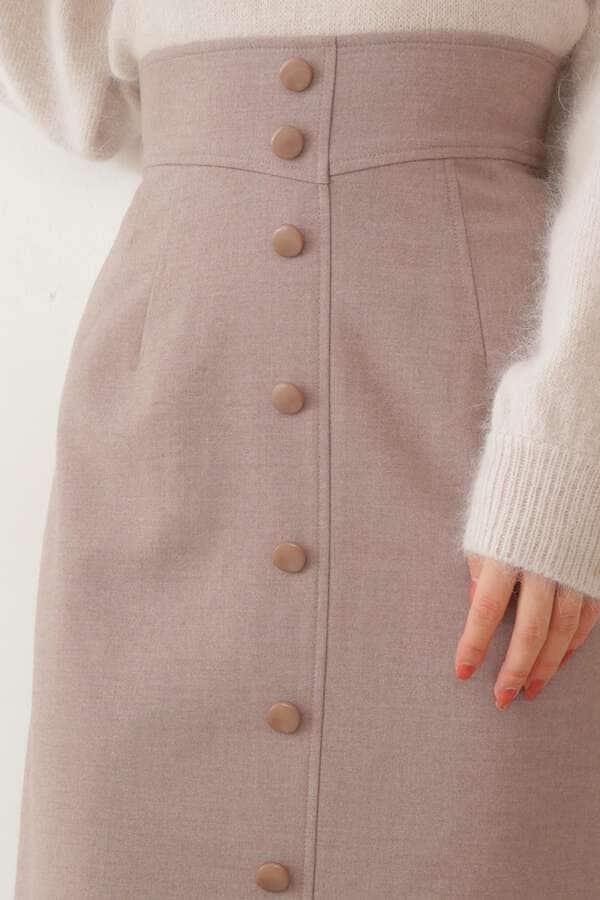《堀田茜さん着用 美人百花12月号掲載商品》フロント釦タイトスカート