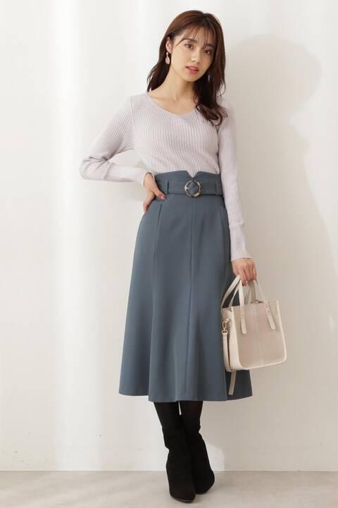 【先行予約12月上旬-12月中旬入荷予定】ベルト付マーメイドスカート