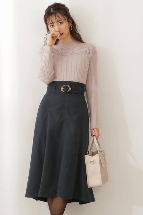 カラーフレアマーメイドスカート