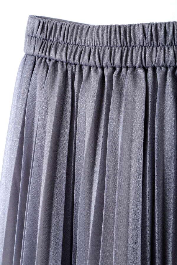 シアーラメプリーツスカート
