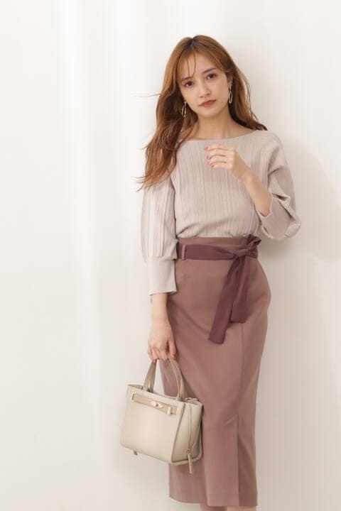 【先行予約9月下旬-10月上旬入荷予定】バイカラーロングタイトスカート