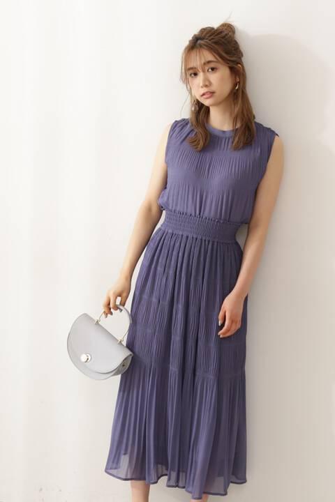 【先行予約8月上旬-8月中旬入荷予定】《EDIT COLOGNE》マジョリカプリーツスカート