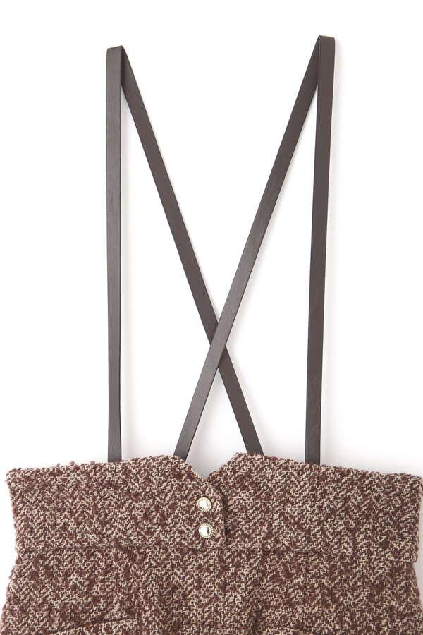 《田中みな実さん着用 美人百花11月号掲載商品》サスペンダー付ツイードタイトジャンパースカート