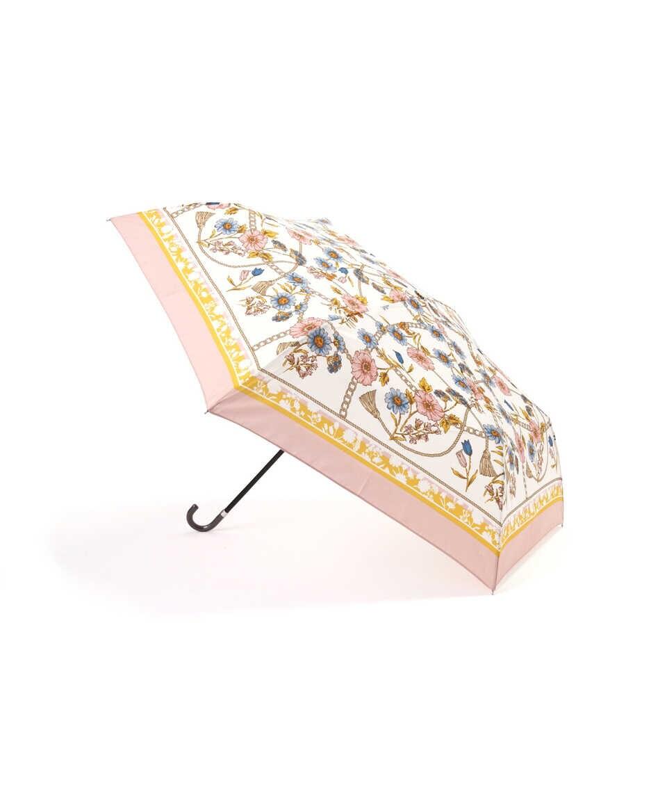 【公式/プロポーションボディドレッシング】スカーフプリント折りたたみ傘/女性/その他小物/ピンク/サイズ:/(傘生地の組成)ポリエステル 100%
