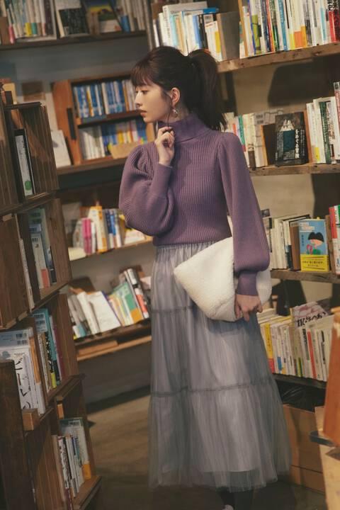 【先行予約12月上旬-12月中旬入荷予定】《美人百花12月号掲載商品》《EDIT COLOGNE》チュールティアードプリーツスカート