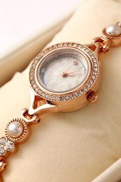 チェンジリングビジューブレス時計