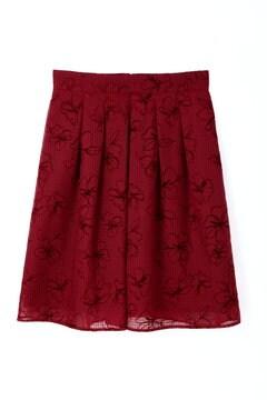 【CanCam 11月号掲載】シアーフラワーフロッキースカート