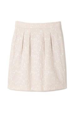 フラワーフルーツジャガードコクーンスカート