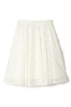 【先行予約_3月中旬入荷予定】フェザーカットジャガードスカート